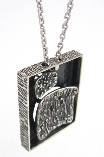 Guy Vidal double shadow box necklace