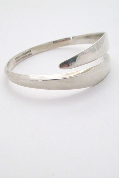 David-Andersen Norway vintage Scandinavian Modernist sterling silver wrap bracelet