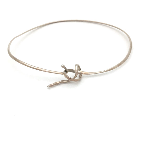Vivianna Torun for Georg Jensen neckring #241 ~ 'Forget Me Knot""