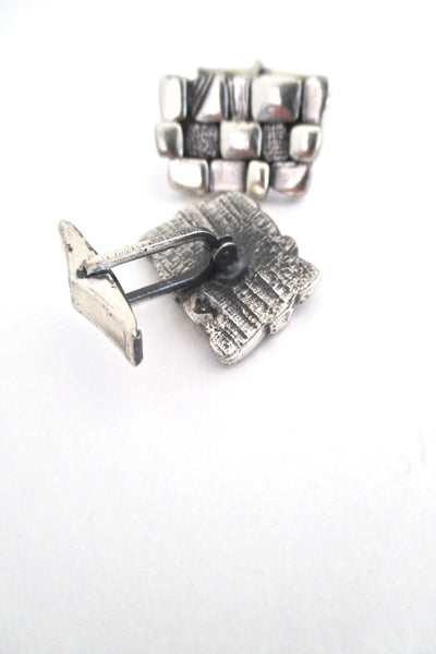 Guy Vidal textured squares cufflinks