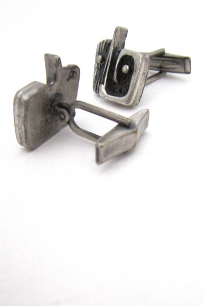 Guy Vidal abstract face cuff links