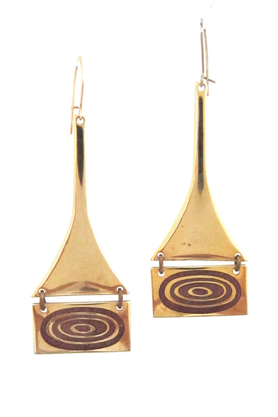 de Passille-Sylvestre Canada kinetic pink circles enamel drop earrings