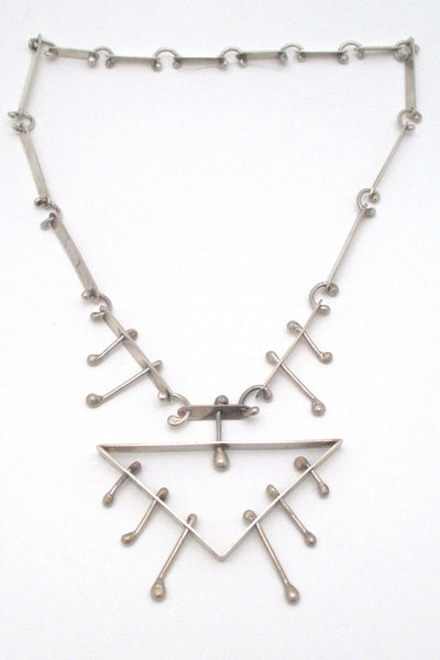 studio made large kinetic necklace & pendant