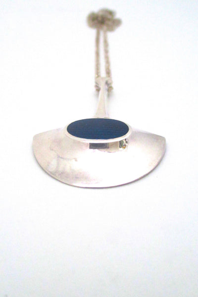 David Andersen sterling & blue enamel pendant
