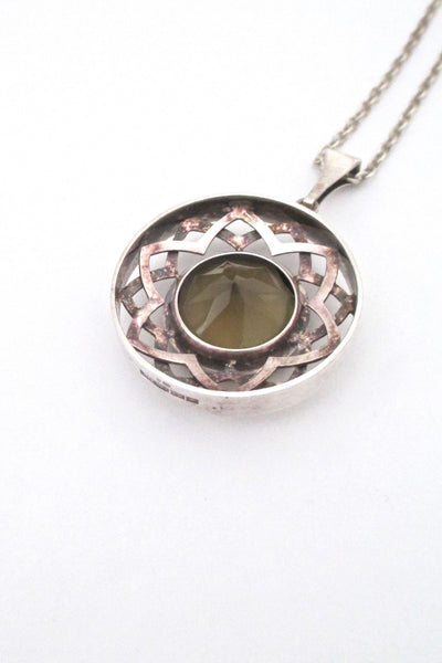 Salovaara large smoky quartz pendant necklace