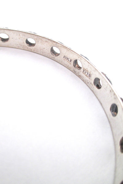 Juhls Norway vintage pierced silver  bangle bracelet