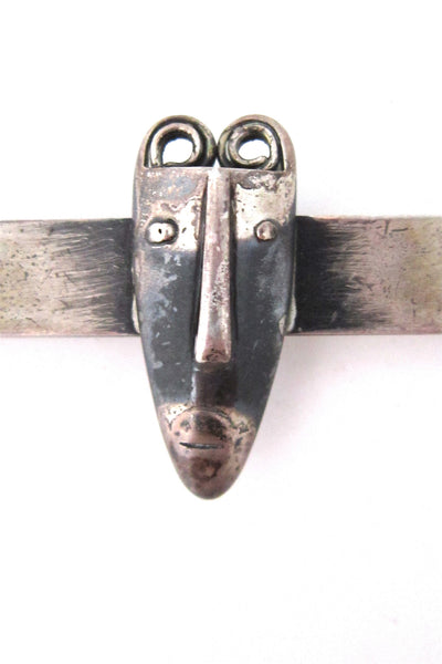 Rebajes sterling 'Brazilian mask' tie bar