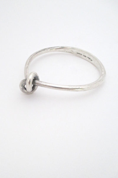 Hans Hansen heavy silver knot bangle bracelet