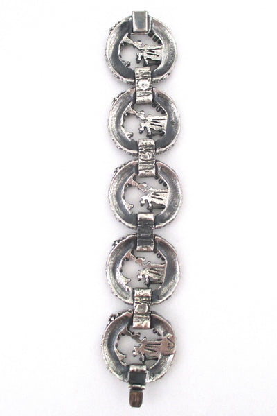 Guy Vidal textured circles bracelet