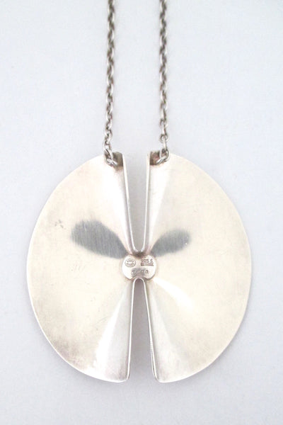 Georg Jensen large pendant necklace 337A ~ Nanna Ditzel