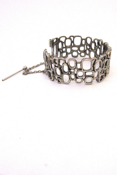 Robert Larin hinged lace bracelet