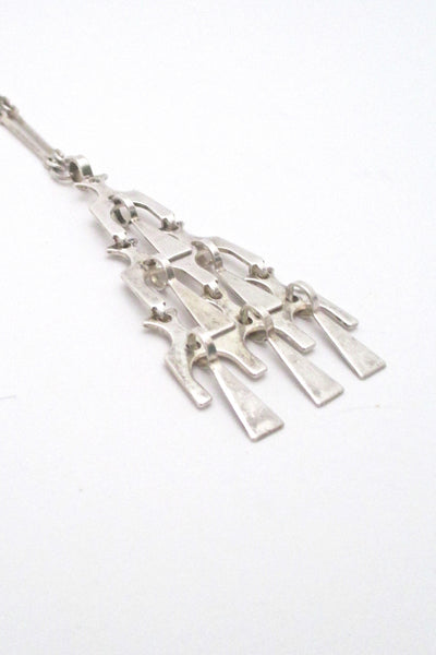 David-Andersen kinetic silver pendant on original long link chain