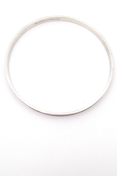 David-Andersen silver & enamel bangle - burnt orange