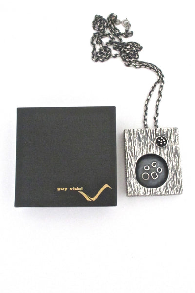 Guy Vidal double-sided shadowbox necklace ~ original box
