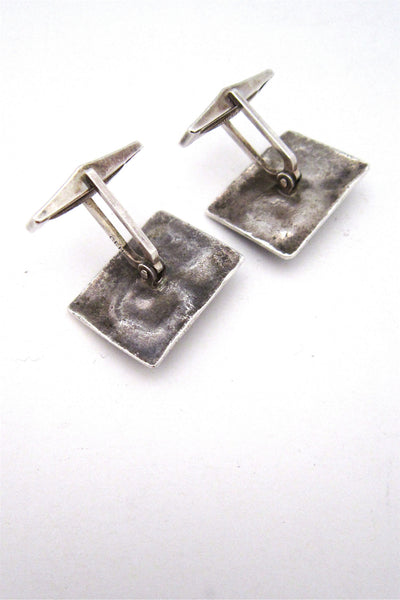 studio made mcm sterling silver cuff links