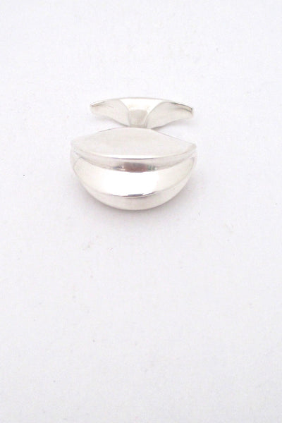Georg Jensen 2 finger large ring #161 by Ibe Dahlquist - rare