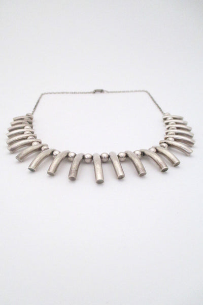 A Dragsted heavy silver graduated fringe necklace
