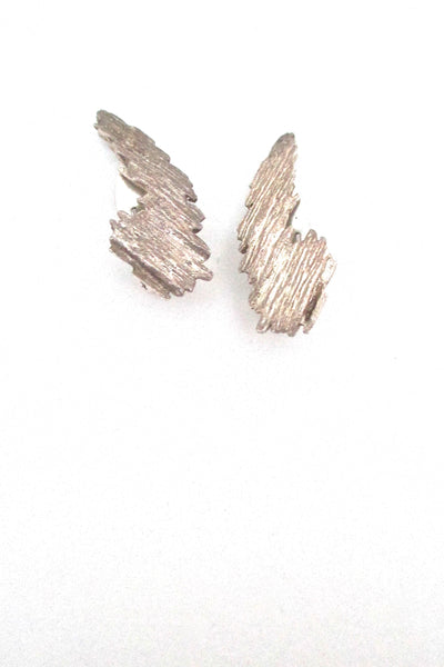 Knud V Andersen for Anton Michelsen 'Bark' ear clips