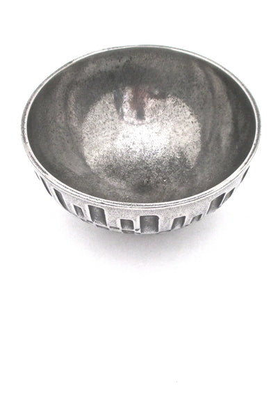 Olav Joff cast stainless steel brutalist bowl
