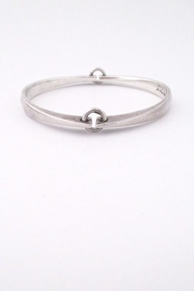 Hans Hansen hinged silver bangle
