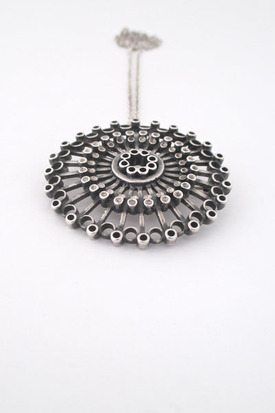 detail Uni David Andersen Norway vintage Scandinavian Modern pendant brooch  necklace by Marianne Berg
