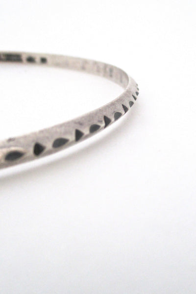 profile Erling Christoffersen for Plus Studios Norway Design vintage modernist silver bangle