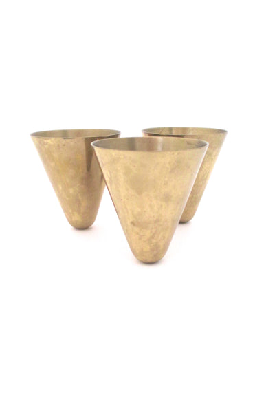 profile Ystad Metall Sweden vintage brass candle holder by Gunnar Ander mid century modern design