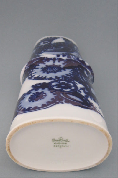 Bjorn Wiinblad flow blue bird vase