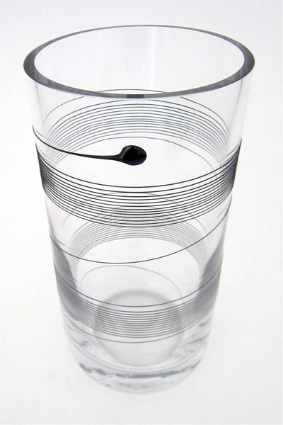 Kosta Boda blown glass spin vase by Bertil Vallien