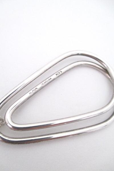Andreas Mikkelsen looped silver pendant