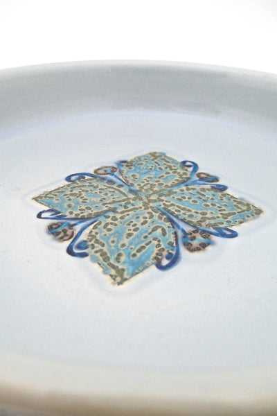detail Royal Copenhagen Denmark vintage ceramic Baca faience dish by Grethe Helland