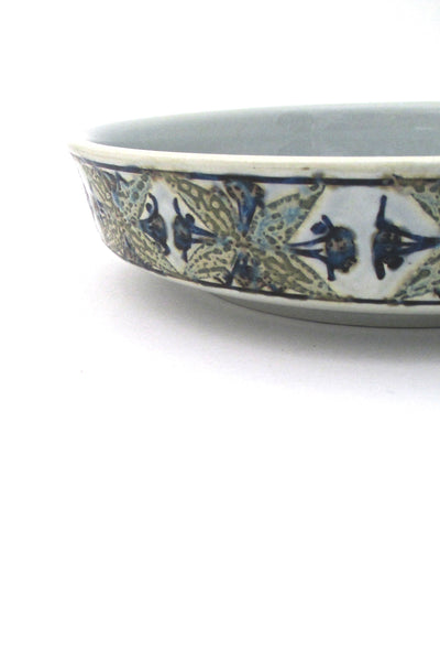 profile Royal Copenhagen Denmark vintage ceramic Baca faience dish by Grethe Helland