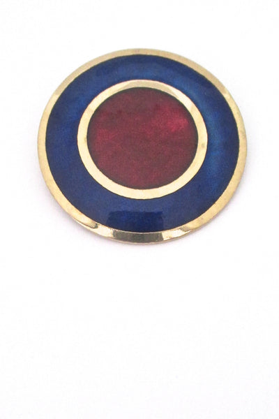 de Passille Sylvestre enamel 'big red dot' brooch