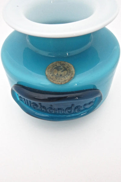 Holmegaard 'Palet' spice jar in blue ~ pair