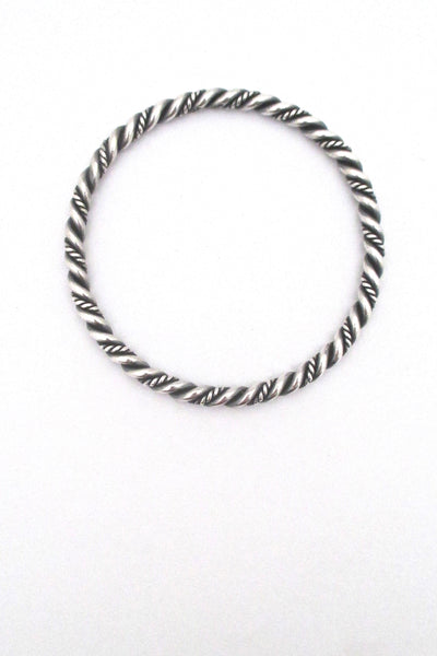 Just Andersen twisted silver bangle bracelet