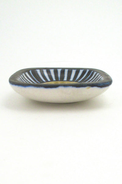 Lotte Bostlund miniature dish #1 - blue sun