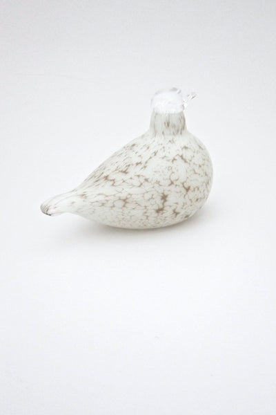 detail Oiva Toikka Nuutajarvi Finland glass bird white willow grouse sculpture