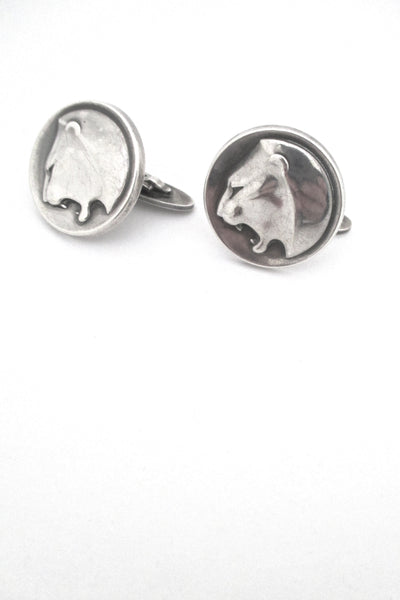 Georg Jensen large Panther cufflinks #76