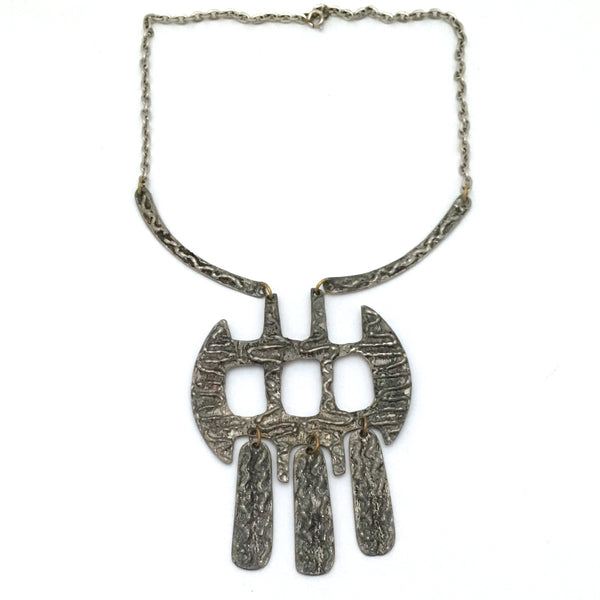 Robert Larin large kinetic bib necklace