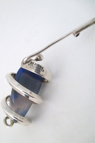 Anna Greta Eker blue banded agate necklace