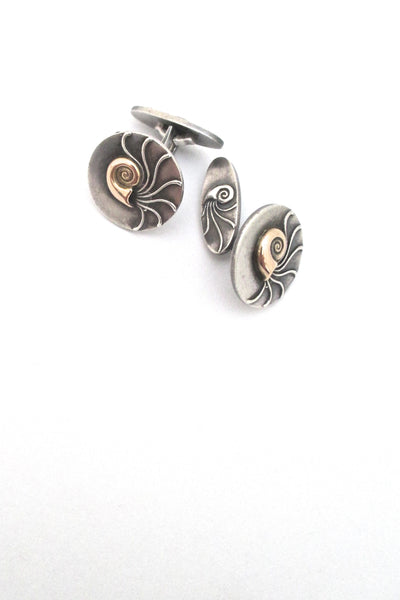 Georg Jensen 'Nautilus' cufflinks #52 - gold tops