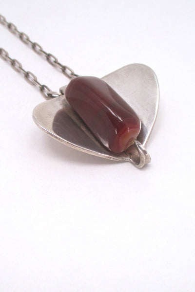 Erling Christoffersen for Plus Studios banded agate necklace