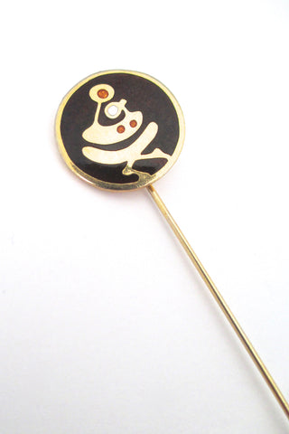 de Passille Sylvestre 'mother and child' stick pin