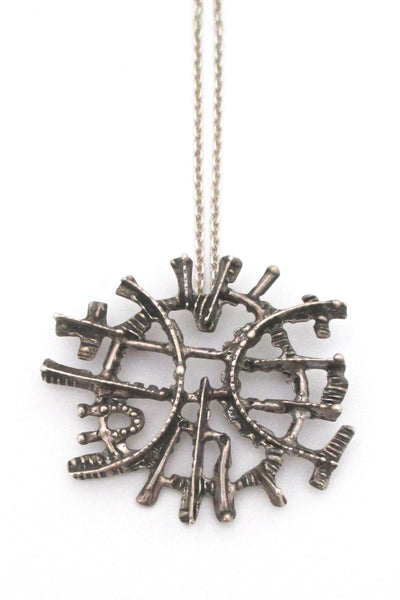 Studio Else & Paul large silver pendant / brooch