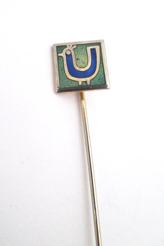 de Passille Sylvestre 'tiny blue bird' stick pin