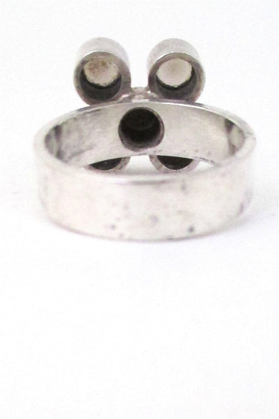 Elis Kauppi 4 stone smoky quartz ring