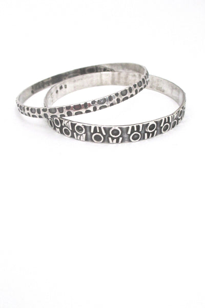 Rytosztuka Polish Modernist textured silver bangle #2