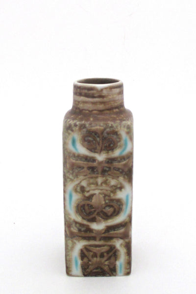 side 2 Nils Thorsson for Royal Copenhagen Denmark vintage small Baca faience vase