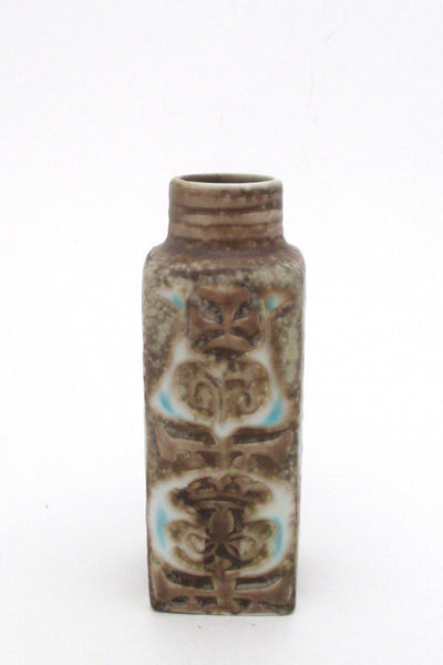 detail Nils Thorsson for Royal Copenhagen Denmark vintage small Baca faience vase