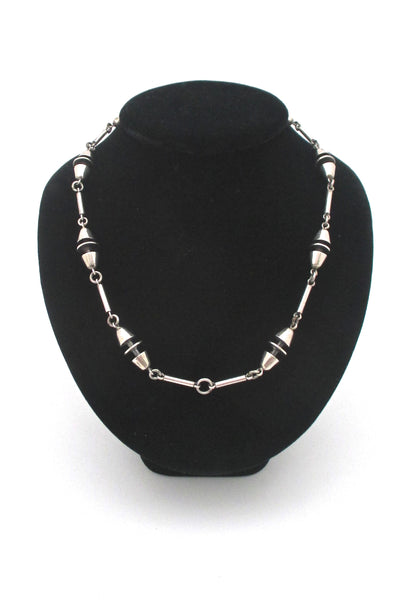 constructivist heavy silver chain necklace
